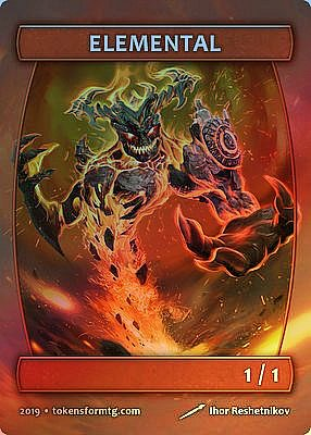 Elemental MTG token 1/1