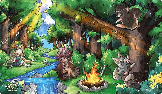 MTG chibi playmat The Forest