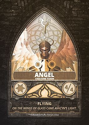 Angel MTG token 4/4 (v.2)
