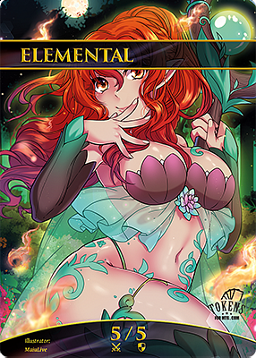 Elemental MTG token 5/5