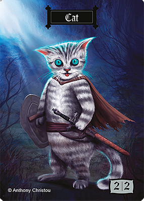 Cat MTG token 2/2