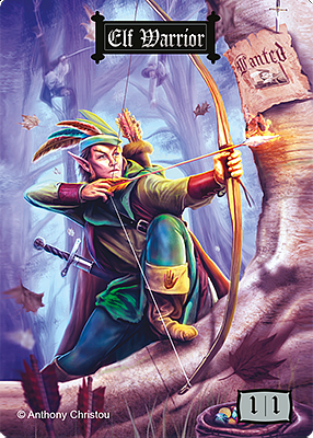 Elf Warrior MTG token 1/1