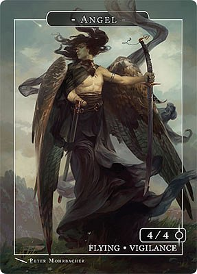 Angel MTG token 4/4 (v.10)