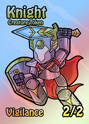Knight MTG token 2/2