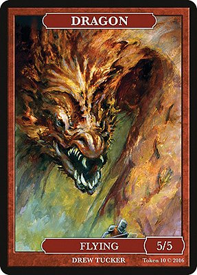 Dragon MTG token 5/5