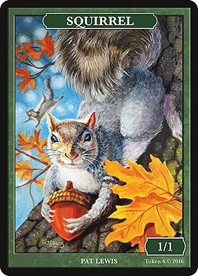 Squirrel MTG token 1/1