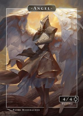 Angel MTG token 4/4 (v.8)