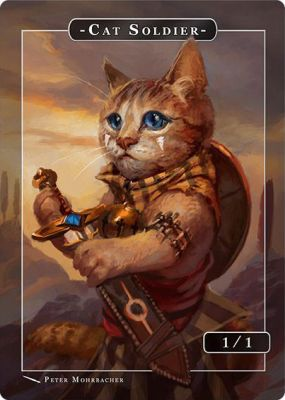 Cat Soldier MTG token 1/1