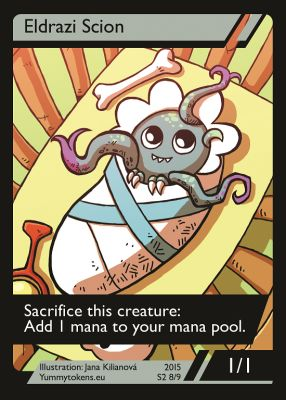 Eldrazi Scion MTG token 1/1