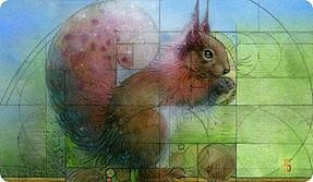 MTG playmat Squirrel
